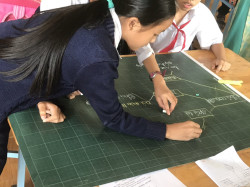 Hình ảnh học sinh hoạt động nhóm